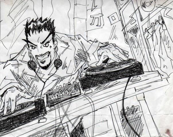 DJ Rapid behind the decks for Platinum DJs